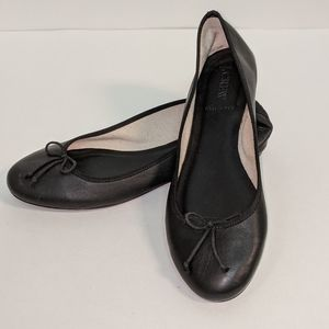 J.Crew Leather Ballet Flats with bows